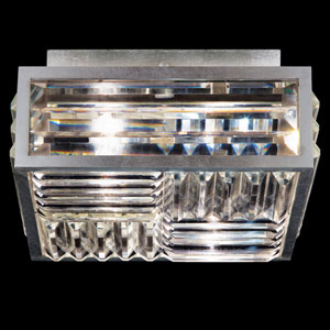 Crystal Enchantment Two-Light Flush Mount in Silver Leaf Finish