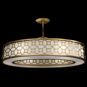 Allegretto Six-Light Pendant in Burnished Gold Leaf Finish