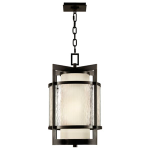 Singapore Two-Light Outdoor Lantern with Dark Bronze Patina Finish