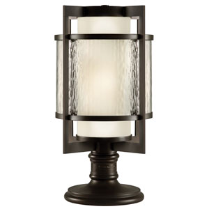 Singapore Two-Light Outdoor Adjustable Pier/Post Mount in Dark Bronze Patina Finish