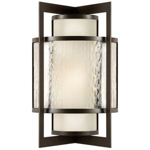 Singapore One-Light Outdoor Wall Sconce in Dark Bronze Patina Finish