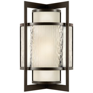 Singapore Two-Light Outdoor Wall Sconce in Dark Bronze Patina Finish