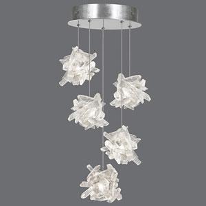 Natural Inspirations Silver Leaf Five-Light  12-Inch Pendant
