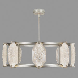 Allison Paladino Silver Leaf 24-Light LED 14.75-Inch Pendant