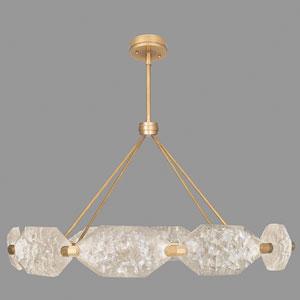 Allison Paladino Gold  Leaf 20-Light LED 25-Inch Pendant