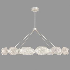 Allison Paladino Silver Leaf 32-Light LED 30-Inch Pendant