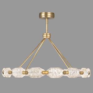 Allison Paladino Gold  Leaf 32-Light LED 24-Inch Pendant