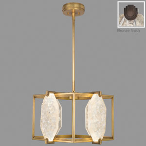 Allison Paladino Bronze Eight-Light LED 15-Inch Pendant