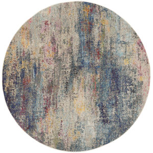 Celestial Multicolor Round: 7 Ft. 10 In. x 7 Ft. 10 In. Area Rug