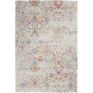 Damask Multicolor Rectangular: 6 Ft. x 9 Ft. Area Rug
