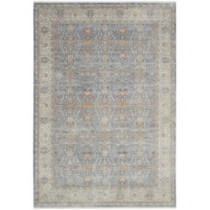 Starry Nights Light Blue Rectangular: 5 Ft. 3 In. x 7 Ft. 3 In. Area Rug