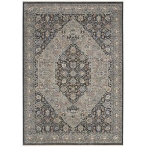 Starry Nights Gray Blue Rectangular: 5 Ft. 3 In. x 7 Ft. 3 In. Area Rug