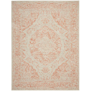 Tranquil Ivory Pink Rectangular: 8 Ft. x 10 Ft. Area Rug