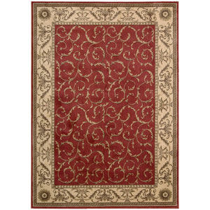 Somerset Red Rectangular: 5 Ft. 6 In. x 7 Ft. 5 In. Rug