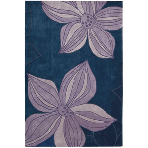 Contour Blue Rectangular: 5 Ft. x 7 Ft. 6 In. Rug