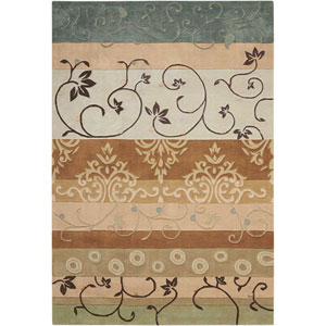 Contour Green Rectangular: 3 Ft. 6 In. x 5 Ft. 6 In. Rug