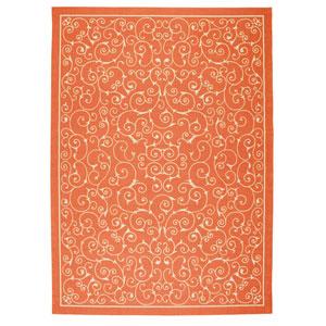 Home and Garden Orange Indoor/Outdoor Rectangular: 10 Ft. x 13 Ft. Rug
