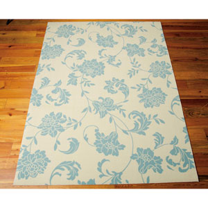 Home and Garden Ivory Indoor/Outdoor Rectangular: 10 Ft. x 13 Ft. Rug