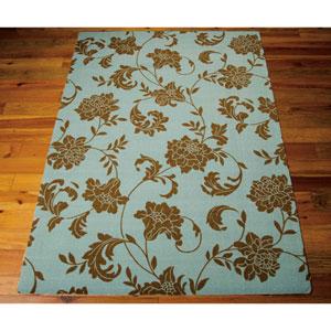 Home and Garden Light Blue Indoor/Outdoor Rectangular: 10 Ft. x 13 Ft. Rug