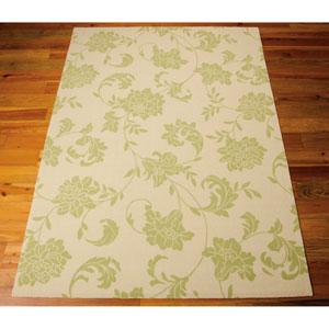 Home and Garden Green Indoor/Outdoor Rectangular: 10 Ft. x 13 Ft. Rug
