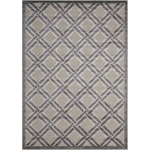 Graphic Illusions Grey Rectangular: 2 Ft. 3 In. x 3 Ft. 9 In. Rug