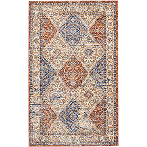 Reseda Multicolor Rectangular: 3 Ft. x 5 Ft. Rug