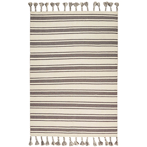 Solano Ivory and Grey Rectangular: 4 Ft. x 6 Ft. 6 In. Rug