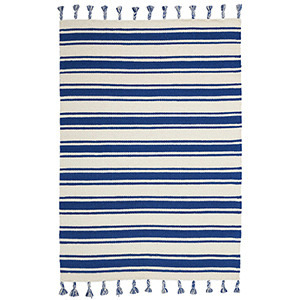 Solano Ivory and Navy Rectangular: 4 Ft. x 6 Ft. 6 In. Rug