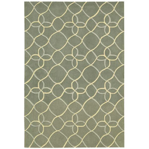 Contour Sage Rectangular: 3 Ft. 6 In. x 5 Ft. 6 In. Rug