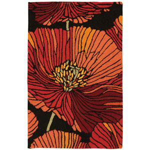 Fantasy Black Rectangular: 1 Ft. 9 In. x 2 Ft. 9 In. Rug
