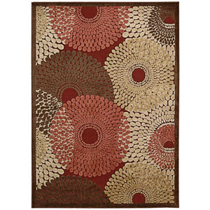 Graphic Illusions Red Rectangular: 3 Ft. 6 In. x 5 Ft. 6 In. Rug