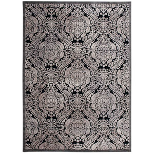 Graphic Illusions Black Rectangular: 2 Ft. 3 In. x 3 Ft. 9 In. Rug
