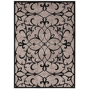 Graphic Illusions Black Rectangular: 2 Ft. 3 In. x 3 Ft. 9 In. Rug