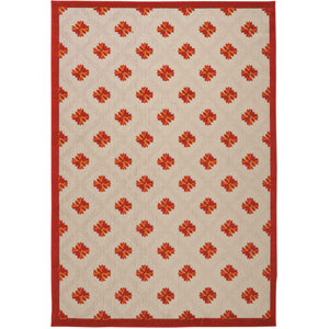 Aloha Red Indoor/Outdoor Rectangular: 9 Ft. 6 In. x 13 Ft. Rug