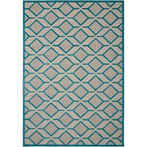 Aloha Blue Indoor/Outdoor Rectangular: 9 Ft. 6 In. x 13 Ft. Rug