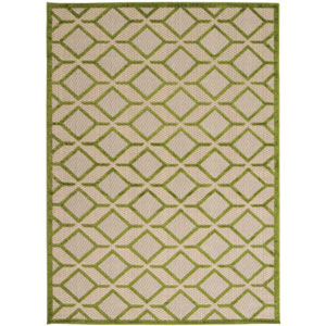 Aloha Green Indoor/Outdoor Rectangular: 9 Ft. 6 In. x 13 Ft. Rug