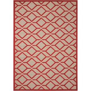 Aloha Red Indoor/Outdoor Rectangular: 9 Ft. 6 In. x 13 Ft. Rug