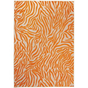 Aloha Orange Indoor/Outdoor Rectangular: 9 Ft. 6 In. x 13 Ft. Rug