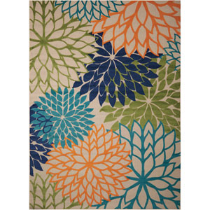 Aloha Multicolor Indoor/Outdoor Rectangular: 9 Ft. 6 In. x 13 Ft. Rug