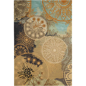 Contour Multicolor Rectangular: 3 Ft. 6 In. x 5 Ft. 6 In. Rug