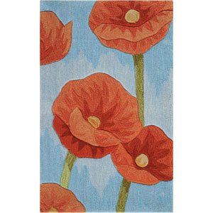 Contour Blue Rectangular: 1 Ft. 9 In. x 2 Ft. 9 In. Rug