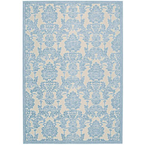 Graphic Illusions Ivory and Light Blue Rectangular: 2 Ft. 3 In. x 3 Ft. 9 In. Rug