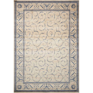 Somerset Ivory and Blue Rectangular: 2 Ft. x 2 Ft. 9 In. Rug