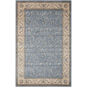 Somerset Light Blue Rectangular: 2 Ft. x 2 Ft. 9 In. Rug