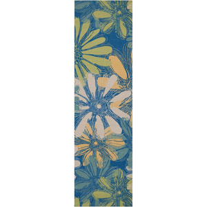 Home and Garden Blue Indoor/Outdoor Runner: 2 Ft. 3 In. x 8 Ft. Rug