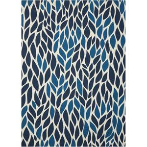 Home and Garden Blue Indoor/Outdoor Rectangular: 4 Ft. 4 In. x 6 Ft. 3 In. Rug