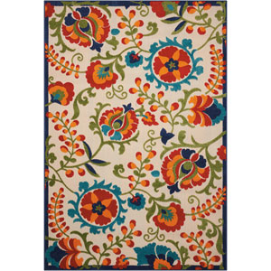 Aloha Multicolor Indoor/Outdoor Rectangular: 5 Ft. 3 In. x 7 Ft. 5 In. Rug