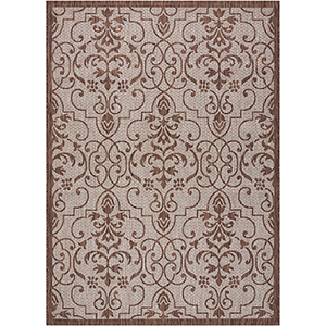 Garden Party Natural Indoor/Outdoor Rectangular: 7 Ft. 10 In. x 10 Ft. 6 In. Rug
