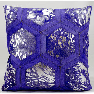 Purple and Silver 20-Inch Decorative Pillow
