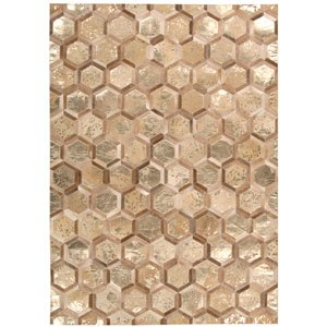 City Chic Amber Gold Rectangular: 5 Ft 3 In x 7 Ft 5 In Rug